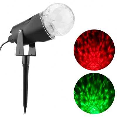 Excelvan Kaleidoscope Projector Rotating LED Light 2 Colors Switchable Red & Green Spotlight Waterproof Outdoor Yard Stake for Garden, Trees, Home, Kid\\\'s Room, Party Decorations, Holiday, Christmas