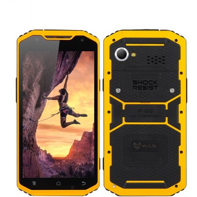 MFox A10 Pro Military Standard Smartphone - IP68, 6 Inch Display, MTK6752 Octa Core 1.7GHz CPU, 3GB RAM, 32GB ROM, MIL-STD-810G , 4G, NFC (Yellow)