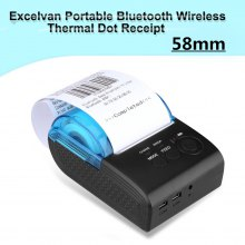 Excelvan Portable Bluetooth Wireless 58mm Thermal Dot Receipt Printer EU