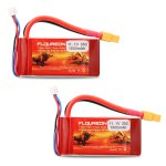 2X Floureon 3S1P 11.1V 1500mAh 35C with XT60 Plug LiPo Battery Pack for RC Evader BX Car, RC Truck, RC Truggy RC Airplane UAV Drone FPV