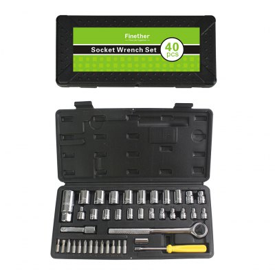 Finether 40PCS Socket and Bit Set Drive Socket Wrench