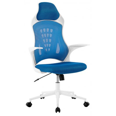 (DE MCT166 BLUE) LANGRIA Ergonomic High-Back Mesh Office Executive Gaming Chair 360 Degree Swivel with Knee-Tilt, 265 lbs Capacity, Blue