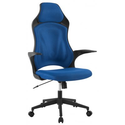 (DE MCT266 BLUE) LANGRIA Ergonomic High-Back Mesh Office Executive Gaming Chair 360 Degree Swivel with Knee-Tilt, 265 lbs Capacity, Blue