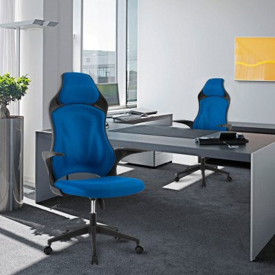(DE MCT266 BLUE) LANGRIA Ergonomic High-Back Mesh Office Executive Gaming Chair 360 Degree Swivel with Knee-Tilt, 265 lbs Capacity, BlueOther Home Improvement<br>(DE MCT266 BLUE) LANGRIA Ergonomic High-Back Mesh Office Executive Gaming Chair 360 Degree Swivel with Knee-Tilt, 265 lbs Capacity, Blue<br>