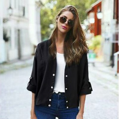 2016 Autumn spring new arrival button fly casual woman short style cardiganSweaters &amp; Cardigans<br>2016 Autumn spring new arrival button fly casual woman short style cardigan<br>
