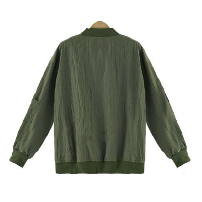 Bomber Jackets Women 2016 Fall New Arrival Fashion Women\\\s O-Neck Jacket Short  Military Sport Outwear  Street Trend Leisure  Pilots Air Force 5XL Outerwear TopsJackets &amp; Coats<br>Bomber Jackets Women 2016 Fall New Arrival Fashion Women\\\s O-Neck Jacket Short  Military Sport Outwear  Street Trend Leisure  Pilots Air Force 5XL Outerwear Tops<br>