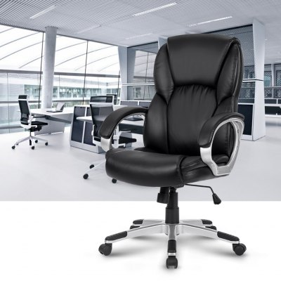LANGRIA Modern Ergonomic Mid-Back Leather Office ChairOffice Standing Desk<br>LANGRIA Modern Ergonomic Mid-Back Leather Office Chair<br>