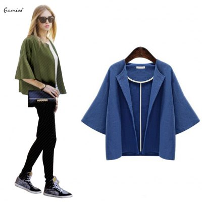 2016 Autumn spring new arrival button  casual woman short style cardigan