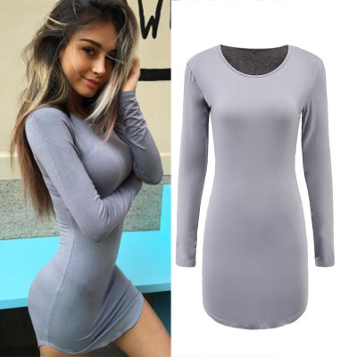 New 2016 Women Summer Autumn Sexy Casual dress 5 Color Fashion elegent Plus Size Dress Vestidos Long Sleeve Bodycon Hip Club DressBodycon Dresses<br>New 2016 Women Summer Autumn Sexy Casual dress 5 Color Fashion elegent Plus Size Dress Vestidos Long Sleeve Bodycon Hip Club Dress<br>
