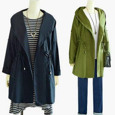 2016 Autumn Spring new style hooded rope woman long sleeve pocket pure color coatJackets &amp; Coats<br>2016 Autumn Spring new style hooded rope woman long sleeve pocket pure color coat<br>