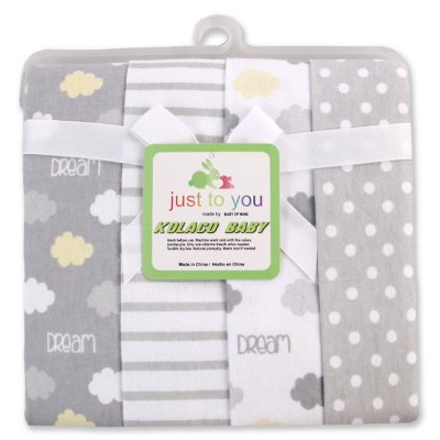 Pcs/Pack 100% cotton supersoft flannel receiving baby blanket baby bedsheet 76*76CM baby blankets cloud