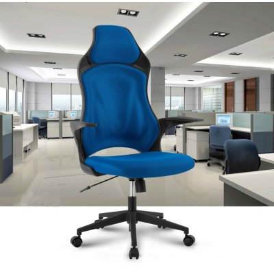 (FR MCT266 BLUE) Finether Ergonomic High-Back Mesh Office Executive Gaming Chair 360 Degree Swivel with Knee-Tilt, 265 lbs Capacity, Blue