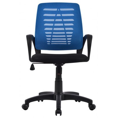 (US MCT053 BLUE) Ergonomic Mid-Back Mesh Swivel Computer Task Office Chair with Adjustable Height, Knee-Tilt with 1 Position Lock, Blue