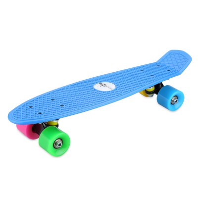 Blascool® Small Fish-Style Skateboard With Four Colorful Wheels, Complete Plastic Deck Board, 21.65 Inch, High Impact-Resistant &amp; Non-slip, ABEC-7 Chrome Steel Bearings. 90kg Max Load. Perfect as A GiSkateboard<br>Blascool® Small Fish-Style Skateboard With Four Colorful Wheels, Complete Plastic Deck Board, 21.65 Inch, High Impact-Resistant &amp; Non-slip, ABEC-7 Chrome Steel Bearings. 90kg Max Load. Perfect as A Gi<br>