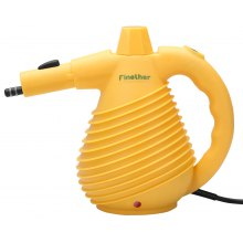 (UK STEAM) Finether 1500W Handheld Pressurized Multi-Purpose Electric Steam Cleaner with 12 Accessories for Cleaning and Sanitizing, GS, EMC and CE Certified, Yellow