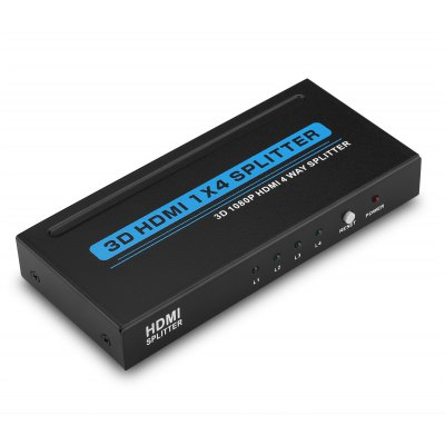 4 Port HDMI v1.3 Switch 1 x 4 HDMI Splitter 1080P HD for HDTV US