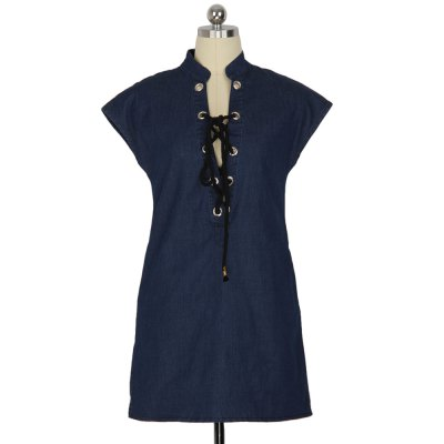 2016 fashion chest strap sexy V neck woman denim dress raglan sleeve pocket jean dressMini Dresses<br>2016 fashion chest strap sexy V neck woman denim dress raglan sleeve pocket jean dress<br>