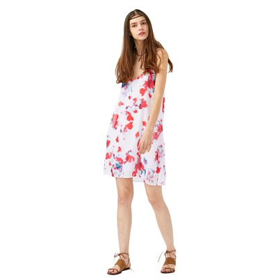 2016 new arrival sexy printing dress woman  V neck spaghetti strap chiffon dressSleeveless Dresses<br>2016 new arrival sexy printing dress woman  V neck spaghetti strap chiffon dress<br>