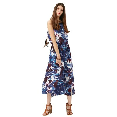2016 Summer New Arrival Women Western Beach Werar Sling  Pring DressSleeveless Dresses<br>2016 Summer New Arrival Women Western Beach Werar Sling  Pring Dress<br>