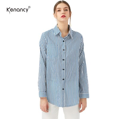 kenancy Spring Summer Women Cotton Shirts Blouse Striped Shirt Turn-Down Collar loose Tops Long Sleeve Women BlousesBlouses<br>kenancy Spring Summer Women Cotton Shirts Blouse Striped Shirt Turn-Down Collar loose Tops Long Sleeve Women Blouses<br>