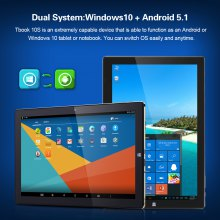 Teclast Tbook 10S 10.1Inch Windows 10+Android 5.1 Intel Cherry Trail X5-Z8350 4+64GB 2 in 1 Ultrabook Tablet PC