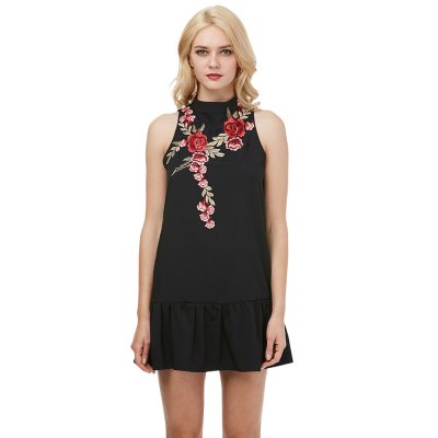 \\\Zaful Woman Halter Dress Spring And Summer Floral Embroidery Sexy Style High neck And Sleeveless Design Mini DressMini Dresses<br>\\\Zaful Woman Halter Dress Spring And Summer Floral Embroidery Sexy Style High neck And Sleeveless Design Mini Dress<br>
