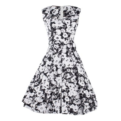 ZAFUL Fashion Vintage 50s New Retro Floral Print Plus Size Dress Womens Summer  Sleeveless Band Full Circle Evening Party Club Wear Vintage DemitoiletSleeveless Dresses<br>ZAFUL Fashion Vintage 50s New Retro Floral Print Plus Size Dress Womens Summer  Sleeveless Band Full Circle Evening Party Club Wear Vintage Demitoilet<br>