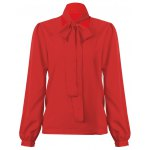 cheap Kenancy Fashion Tie Blouse Shirt Female Sexy All-match V-neck Long Sleeve Casual Blouse
