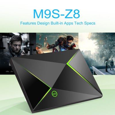 M9S Z8 Android6.0 S905X Quad Core 2GB+16GB 1000M WIFI 3D HD 4K*2K Dolby Fully Loaded Streaming Media Player TV BOX