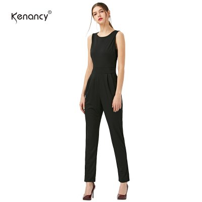 Kenancy Sexy Casual Jumpsuit Solid Color Sleeveless Backless Women Romper Slim JumpsuitJumpsuits &amp; Rompers<br>Kenancy Sexy Casual Jumpsuit Solid Color Sleeveless Backless Women Romper Slim Jumpsuit<br>