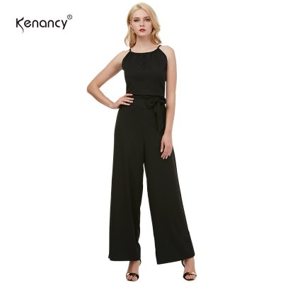 Kenancy Sexy Wide Leg Jumpsuit Female Fashion Hollow Suspender Trousers Street Style Casual Work Wear Rompers With BeltJumpsuits &amp; Rompers<br>Kenancy Sexy Wide Leg Jumpsuit Female Fashion Hollow Suspender Trousers Street Style Casual Work Wear Rompers With Belt<br>