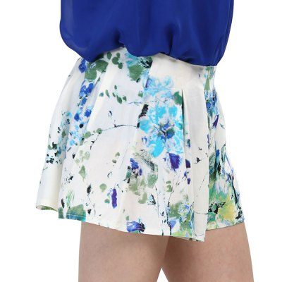 2016 summer new arrival fashion sexy ink printing mid rise bell bottom slim type short pantsShorts<br>2016 summer new arrival fashion sexy ink printing mid rise bell bottom slim type short pants<br>