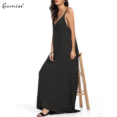2016 Summer New Arrival Women Printing Bohemia Low Cut Pocket Long DressSleeveless Dresses<br>2016 Summer New Arrival Women Printing Bohemia Low Cut Pocket Long Dress<br>