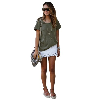 2016 casual fashion round neck pure color woman T-shirtTees<br>2016 casual fashion round neck pure color woman T-shirt<br>