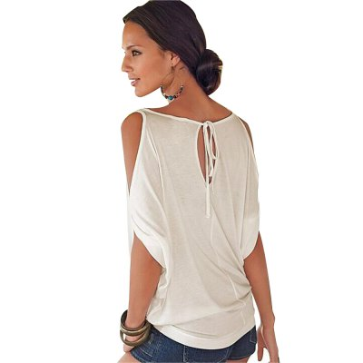 2016 new fashion sexy style off the shoulder design woman after the bind casual loose t-shirtTank Tops<br>2016 new fashion sexy style off the shoulder design woman after the bind casual loose t-shirt<br>