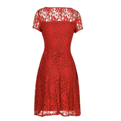 Kenancy Womens Floral Lace Dress Round Neck Short Sleeve Evening Cocktail Party Casual Work Slim Mini DressBodycon Dresses<br>Kenancy Womens Floral Lace Dress Round Neck Short Sleeve Evening Cocktail Party Casual Work Slim Mini Dress<br>