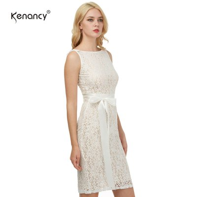 Kenancy Womens Sexy Lace Sheath Bodycon Dress Boat Neck Sleeveless Champagne Wedding Cocktail Party Prom Bow Sashes Belted Pencil Midi DressBodycon Dresses<br>Kenancy Womens Sexy Lace Sheath Bodycon Dress Boat Neck Sleeveless Champagne Wedding Cocktail Party Prom Bow Sashes Belted Pencil Midi Dress<br>