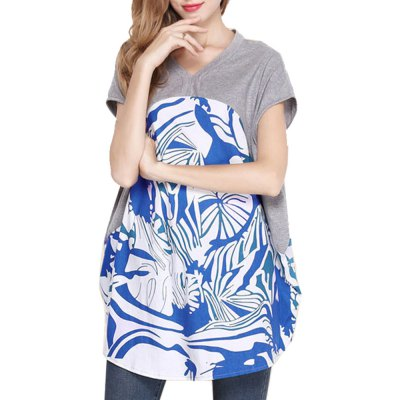 2016 casual fashion V-neck nation printing raglan sleeve woman irregular hem long T-shirtTees<br>2016 casual fashion V-neck nation printing raglan sleeve woman irregular hem long T-shirt<br>