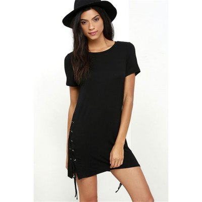 2016 new arrival  leisure style hip fashion dress with short sleevesMini Dresses<br>2016 new arrival  leisure style hip fashion dress with short sleeves<br>