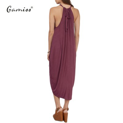 2016 new arrival summer style spaghetti strap dress woman irregular hem design loose dress lantern shape dressSleeveless Dresses<br>2016 new arrival summer style spaghetti strap dress woman irregular hem design loose dress lantern shape dress<br>
