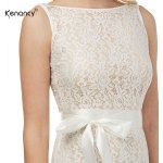Kenancy Womens Sexy Lace Sheath Bodycon Dress Boat Neck Sleeveless Champagne Wedding Cocktail Party Prom Bow Sashes Belted Pencil Midi Dress for sale