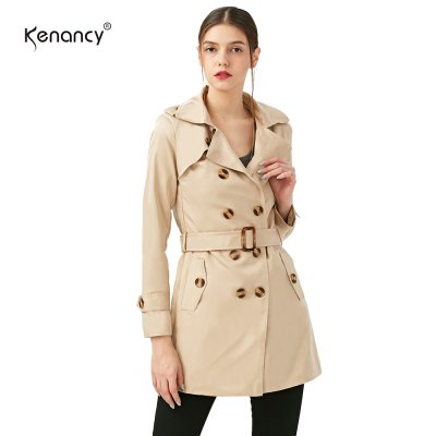 Kenancy Women Slim Overcoat Medium Long Sashes Belted Trench Coat Women shoulder board Double breasted Trench Coat WindbreakerJackets &amp; Coats<br>Kenancy Women Slim Overcoat Medium Long Sashes Belted Trench Coat Women shoulder board Double breasted Trench Coat Windbreaker<br>