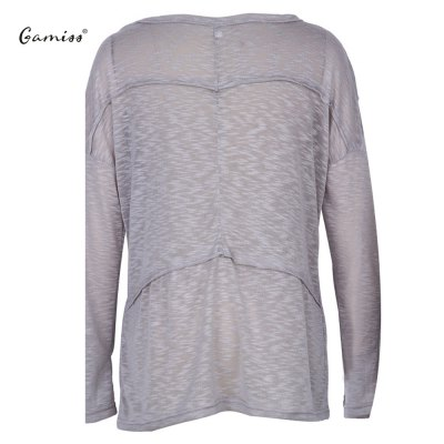 2016 casual fashion U-neck stitching long sleeve loose knitwearSweaters &amp; Cardigans<br>2016 casual fashion U-neck stitching long sleeve loose knitwear<br>