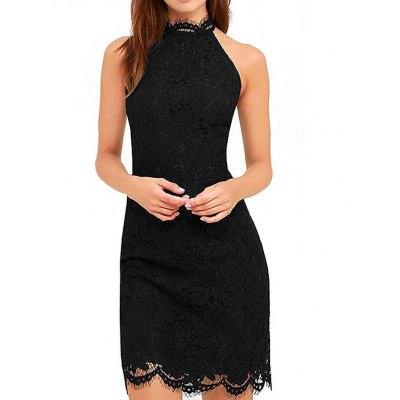 Kenancy Womens Elegant Sleeveless Full Floral Eyelash Lace Cocktail Party Wedding Evening Special Occasions Halter Style Bodycon DressBodycon Dresses<br>Kenancy Womens Elegant Sleeveless Full Floral Eyelash Lace Cocktail Party Wedding Evening Special Occasions Halter Style Bodycon Dress<br>