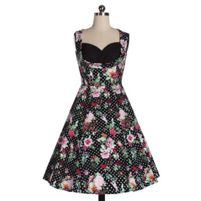 Zaful Woman Vintage Dress Spring And Summer Floral Printing Elegant Style Sweetheart Neckline And Sleeveless Design Vintage  DressSleeveless Dresses<br>Zaful Woman Vintage Dress Spring And Summer Floral Printing Elegant Style Sweetheart Neckline And Sleeveless Design Vintage  Dress<br>