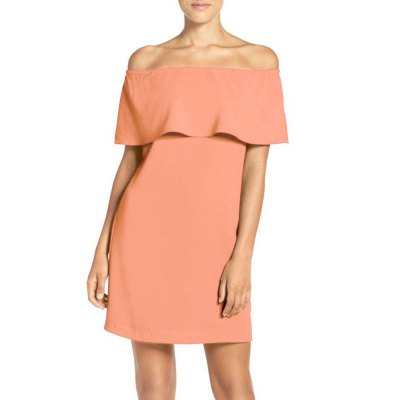 Kenancy Wemans Off the Shoulder Ciffon Flirty Ruffle Cocktail Party Wedding Evening Shift DressBodycon Dresses<br>Kenancy Wemans Off the Shoulder Ciffon Flirty Ruffle Cocktail Party Wedding Evening Shift Dress<br>