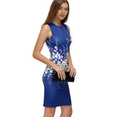 Kenancy Fashion Printing Pencil Dress Female Sexy Sleeveless Casual Club Bodycon DressBodycon Dresses<br>Kenancy Fashion Printing Pencil Dress Female Sexy Sleeveless Casual Club Bodycon Dress<br>