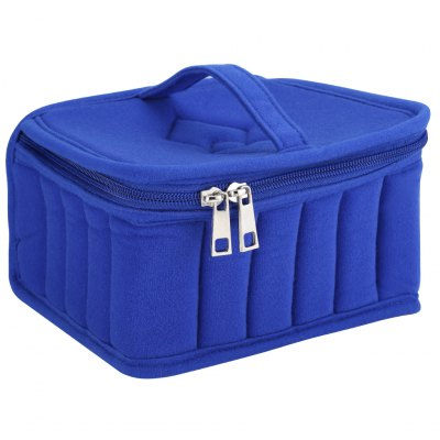 (ESSENTIAL OIL CASE BLUE)Finether 30-Bottle Essential Oil Nail Polish Carrying Case, Storage Organizer Bag Travel Bag, High Quality Shockproof Portable, Suitable for 15ml, BlueStorage Bags<br>(ESSENTIAL OIL CASE BLUE)Finether 30-Bottle Essential Oil Nail Polish Carrying Case, Storage Organizer Bag Travel Bag, High Quality Shockproof Portable, Suitable for 15ml, Blue<br>