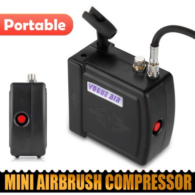 Black HS08 Mini Airbrush Compressor UK