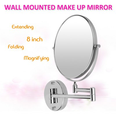 1309-8 Wall Double Side 8inch 10x Magnification Mirror